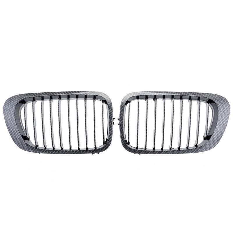 Pour BMW E46 3 Series Coupe 2 portes 2D 1998 1999 2000 2001 grilles de calandre Sport en Fiber de carbone en gros D30