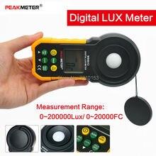 PEAKMETER 200, 000Lux цифровой измеритель освещенности тестер яркости фотометр с аналоговым и цифровым дисплеем
