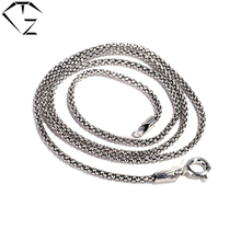 Plata de Ley 925 Collar de Cadena de 40 cm Gargantilla para Las Mujeres Collares 70 cm Largas Cadenas de Joyería de Plata Tailandesa S925 Solid haciendo
