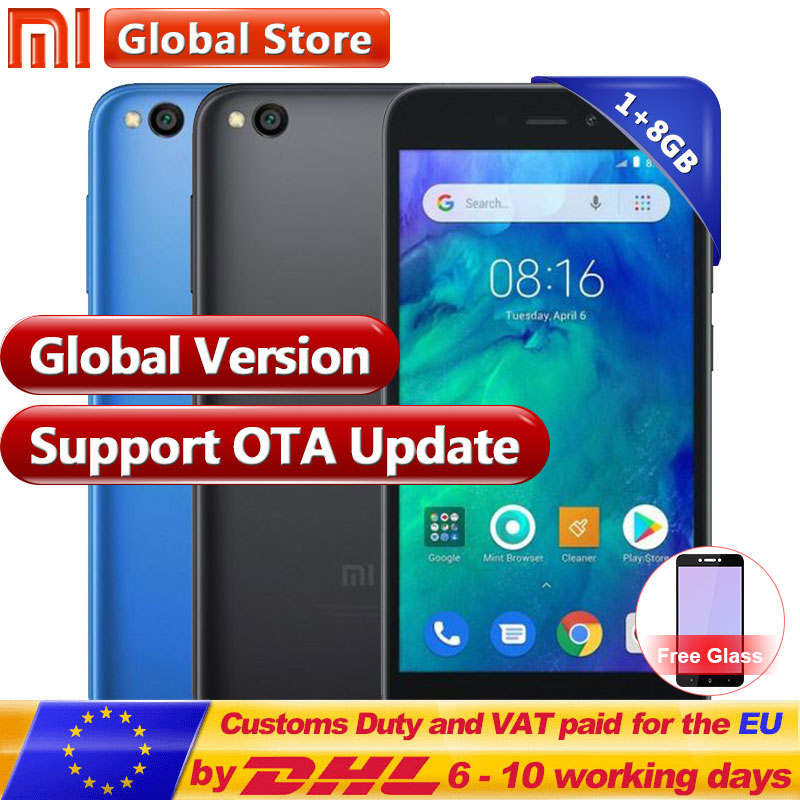 In Stock Global Version Xiaomi Redmi Go 8GB 1GB Telephone Snapdragon 425 Quad Core Phone 16:9 1280×720 Phone Resolution 3000mAh
