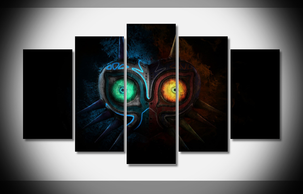 6858 Legend of Zelda Majoras маска Книги по искусству игры Логотип wallpapersbyte компостер-защелка Gallery Wrap Книги по искусству печать домашнего декора стены