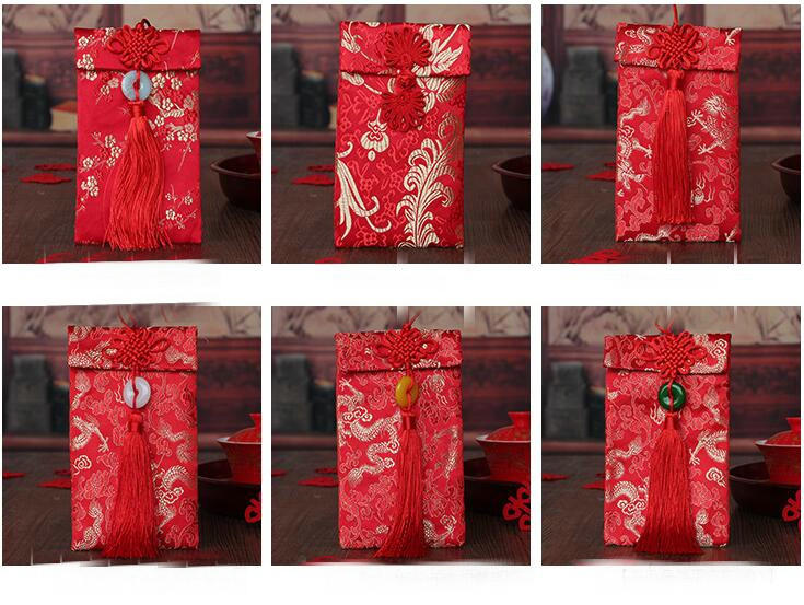freeshipping 3pcs creative cloth big red wedding red envelope