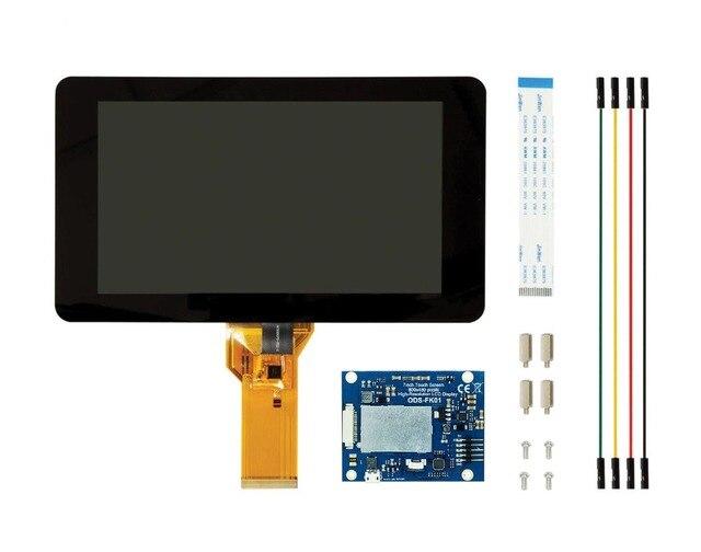 Mới Màn Hình Cảm Ứng 7 Inch Màn Hình 10 Ngón Tay Cảm Ứng Điện Dung W/DSI Người Lái Tàu Dành Cho Raspberry Pi 4 3 B +
