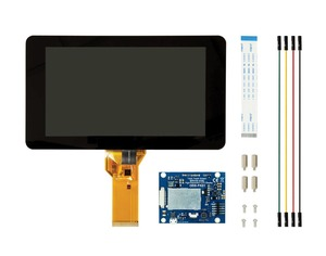 Image 1 - New 7 inch Touch Screen Display with 10 Finger Capacitive Touch w/ DSI Driver Board Case For Raspberry Pi 4 3 B+
