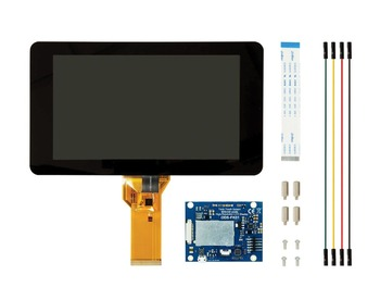 New 7 inch Touch Screen Display with 10 Finger Capacitive Touch w/ DSI Driver Board Case For Raspberry Pi 4 3 B+ цена 2017