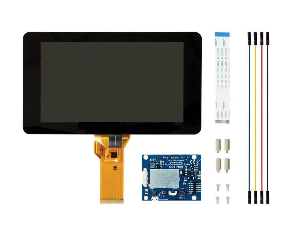 New 7 Inch Touch Screen Display With 10 Finger Capacitive Touch W/ DSI Driver Board For Raspberry Pi 4 3 B+