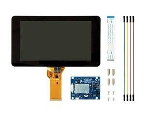 Nueva pantalla visualización táctil de 7 pulgadas con 10 dedos capacitiva táctil con Driver DSI tablas con maletín para Raspberry Pi 4 3 B +