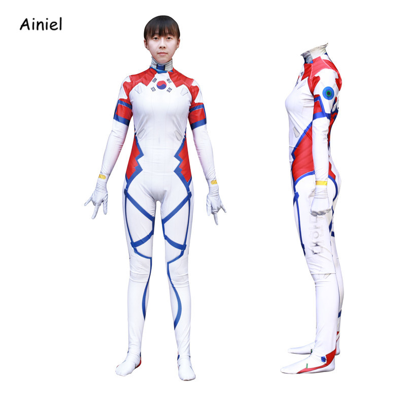 Ainiel 3D Printed Lycra D VA Cosplay Costumes  Overwatches dva Zentai D.VA Bodysuit  Halloween Costume Spandex Women Girls Kids