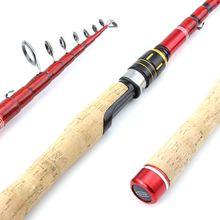 2017NEW Fishing Rod 2.1m 2.4m Spinning Fishing Rod M Hard Telescopic Fishing Rod Carbon Fiber Casting Rods Free shipping fly fishing combo 5wt 9ft carbon fiber fly rod