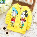 2017 Spring new baby girls coat Mickey minnie mouse duck zip cardigan jacket children's clothing retail Candy-colored unisex