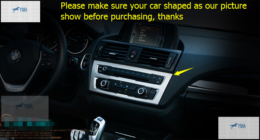 interior For BMW 1 Series 116i 118i F20 2012 2017 Center Middle Console AC Air Conditioning Switch CD Panel Cover Trim 1 Piece