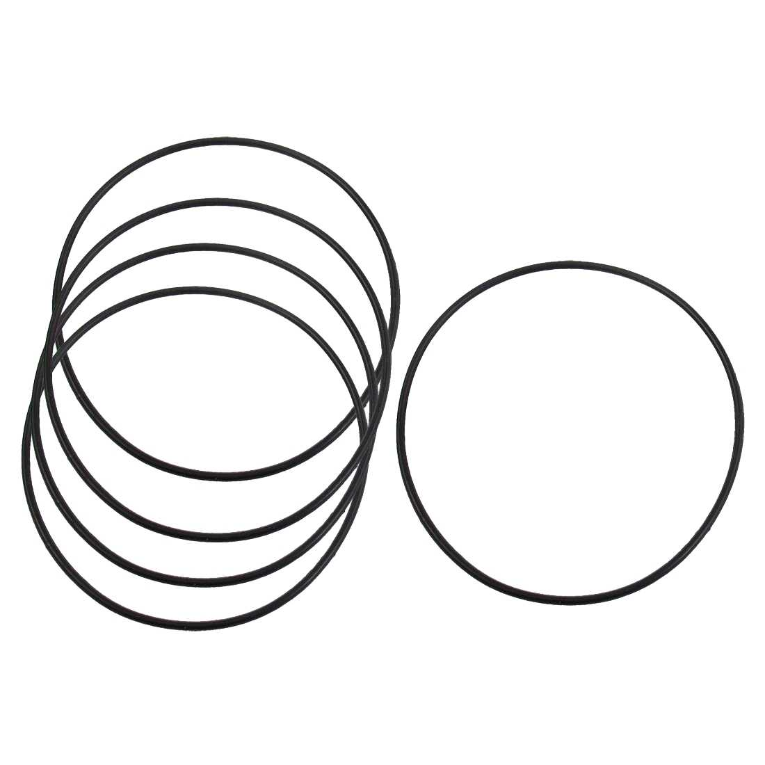 O-ring / seal ring made of rubber, 80 x 2 mm, for oil filter, 5 pieces