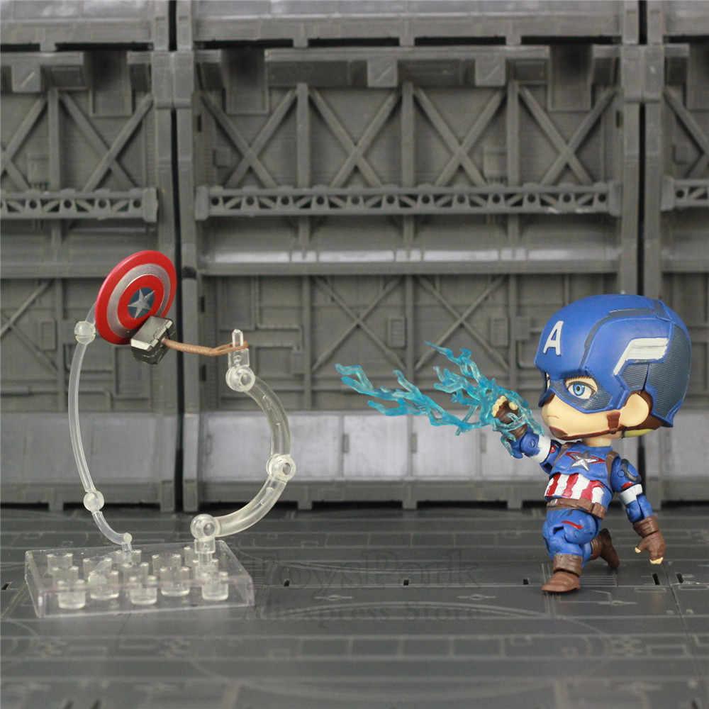 Marvel, Мстители, 4 конца игры, милый Капитан Америка, 10 см, фигурка, супер игрушки в виде героев, кукла Ко, Nendoroid, 618, Civil Infinity War, новинка