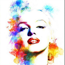 New Full round Diamond 5D DIY  Painting Marilyn Monroe Embroidery Cross Stitch Rhinestone Mosaic  Decor Gift цена
