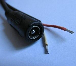 2 шт. 22AWG DC штекер разъем питания прямой соединитель Одиночный кабель 5,5x2,5 мм Женский Удлинительный шнур контрольная линия безопасности 28 см