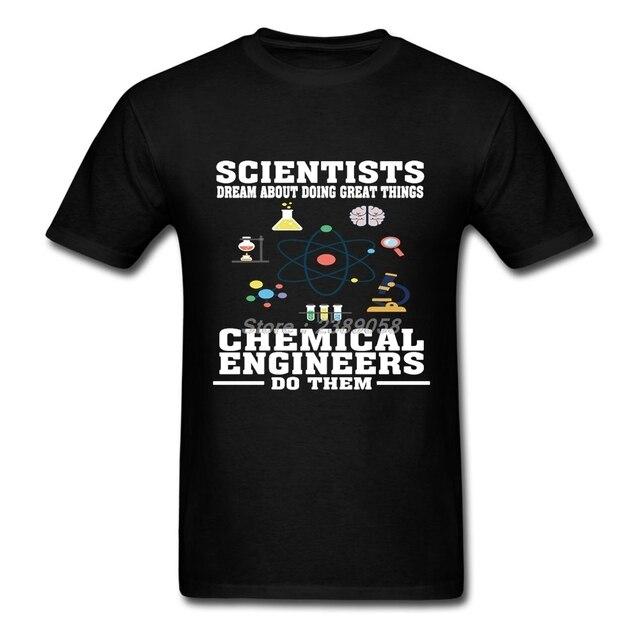 0ee755d4a Único Camisetas hombres manga corta ingenieros químicos nueva llegada  ingeniería Hombre Camisetas