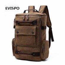 Мода Холст Мужчины Ежедневные Рюкзаки для Ноутбука Большой Емкости Мешок Компьютера Случайный Студент Школы Bagpacks Путешествие Рюкзаки 2016