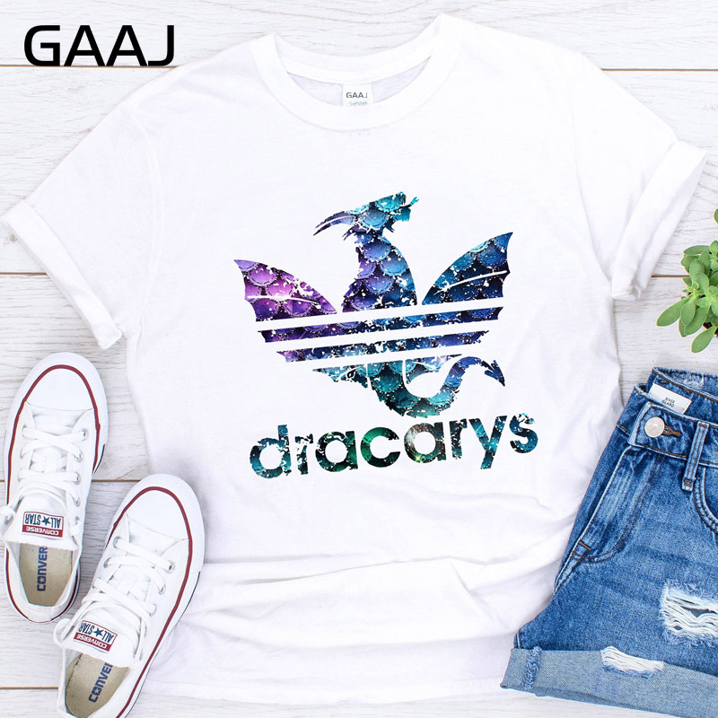 2019 T Shirt Women Game Of Thrones Dracarys Harajuku Streetwear Tshirt Mother Of Dragons T-Shirts Friends Tee Shirt Tops Womens