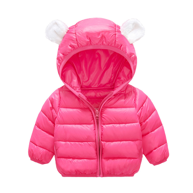 0-3 years baby girls winter jackets New 2017 winter soft cotton padded warm bear ears Hooded parkas coats for toddler girl