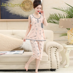 Image 5 - Big Pijamas Women 2019 New Arrival Women Set Home Clothing Floral Cotton Night Shorts Pijama Cotton Plus Size 4xl Summer Pink Pj