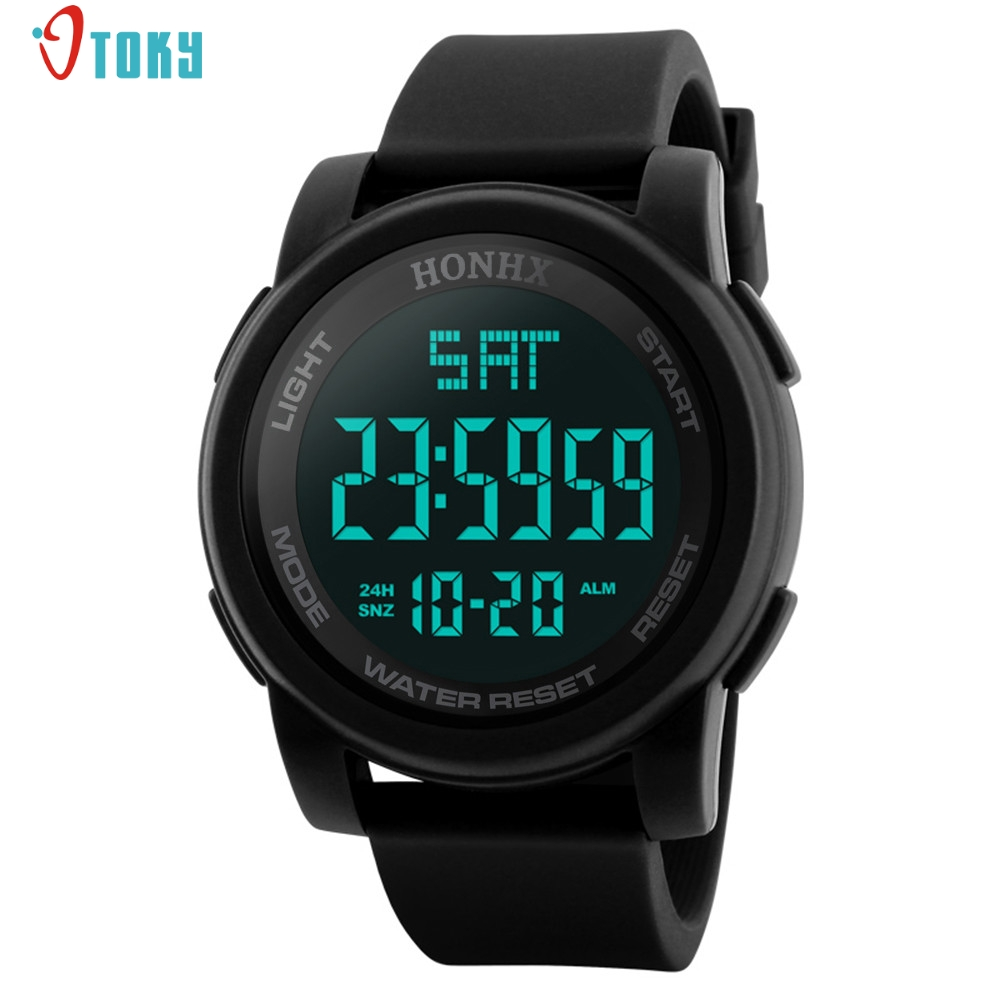 Watches Men Fashion Men's LED Waterproof Digital Quartz Military Luxury Sport Date Watches Digital Watch Men May16