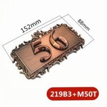 Dos dígitos ABS plástico imitación Metal bronce casa número personalizado signo puerta número pegatina para Hotel apartamento Placa de puerta