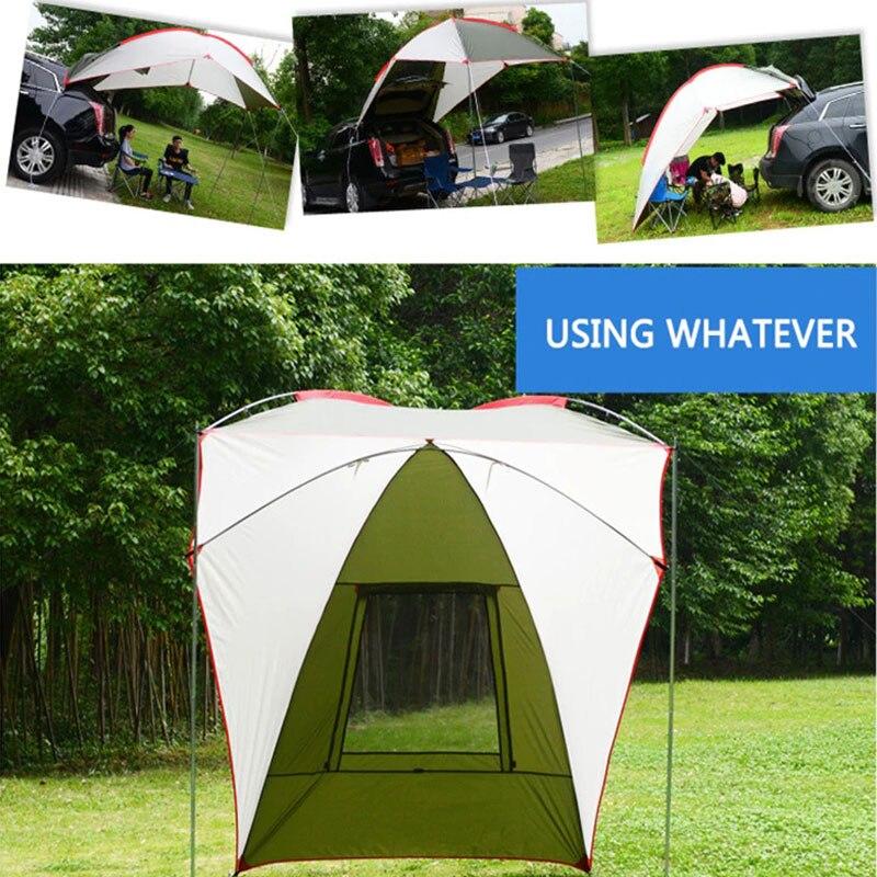Tente de Camping Durable tente de voiture pliante tente imperméable PU 2 couleurs auto-conduite voyage literie