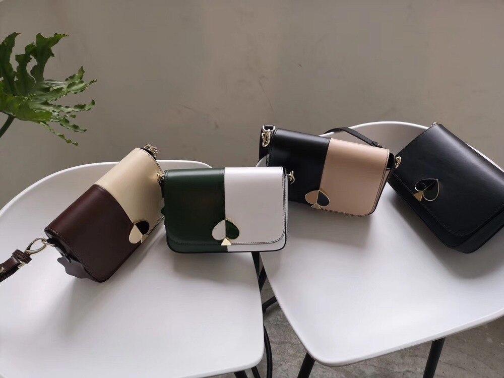 Kafunila 2019 new arrival women genuine leather messenger bag luxury handbags women bags designer female fashion panelled flap