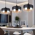 Кухонный стеклянный подвесной светильник  современный подвесной потолочный светильник  домашний винтажный промышленный подвесной светил...