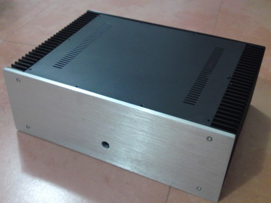 B-002 QUEENWAY 4315 CNC Aluminum Case Power amplifier Chassis /Black Version 430mm*150mm*311mm 430*150*311mm