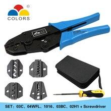 COLORS Crimping Set Cable Cutter Crimper Kablo Kesici Pliers Tools Crimp Alicate Plier Wire Crimpador Alicates crimp