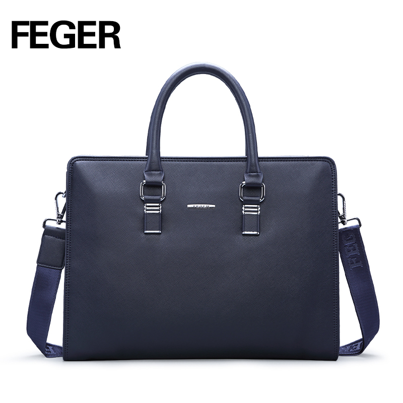 FEGER Men's High Quality Briefcase PVC Tote Bag Handbags For Male Fashion Business Men Messenger Bags  Business Bag waterproof aosbos fashion portable insulated canvas lunch bag thermal food picnic lunch bags for women kids men cooler lunch box bag tote