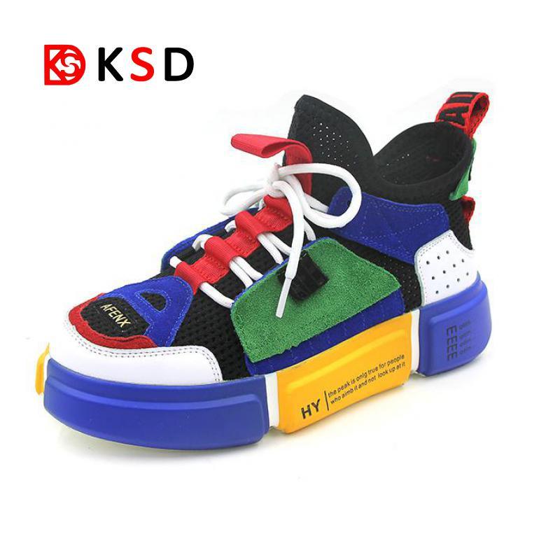 2018 nueva tendencia para hombre zapatillas Breathable Air Mesh Zapatos de Jogging al aire libre caminar zapatos atléticos mujeres Zapatos de deporte