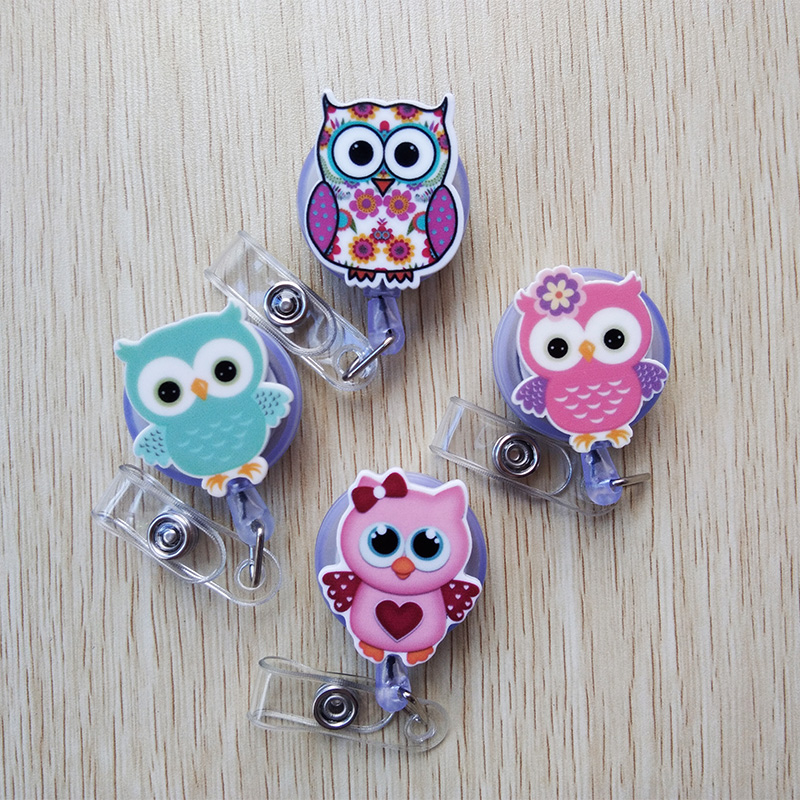 1 Pcs Foreign Trade Selling Cartoon Badge Reel Bus Card Student Nurse ID Name Card Badge Holder 60cm Frosted Retractable Reel