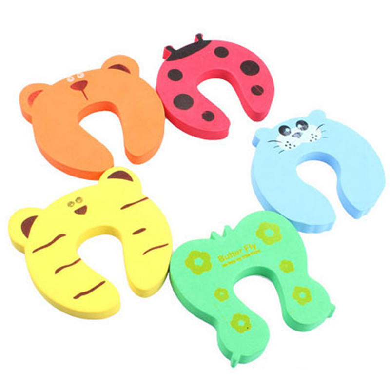 4pcs/set Baby Safety Colorful Baby Finger Protector Baby Helper Child Safety Door Stopper Finger Pinch Guard Lock Random Color