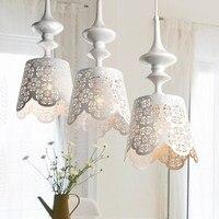 3 głowice lampy wisiorek światła duszpasterska droplight trzy rozrzutniki restauracja długi malarstwo matowe szkło FG730 w Wiszące lampki od Lampy i oświetlenie na
