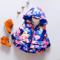 Baby Bolero Soft Cotton Padded Jacket Infant Coat Giacche Neonati Ponchos Capes Children Jacket Female Autumn Clothing 50D049