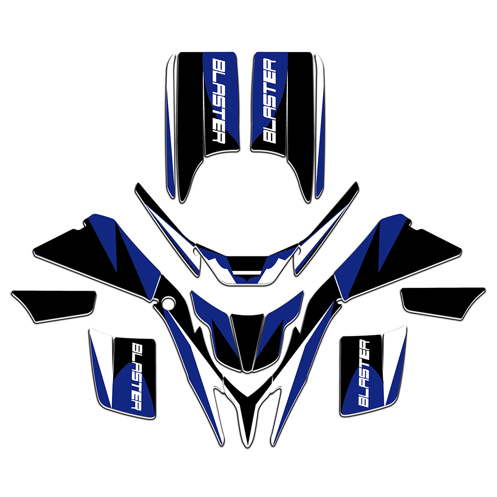 New Style Graphics Decals Stickers Wrap Full Race Kits For ATV Yamaha BLASTER 200 YFS200 1988-2006