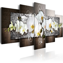 5 pieces/set Classic flower series Picture Print Painting On Canvas Wall Art Home Decor Living Room PJMT-B (196)
