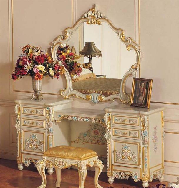 negozio online barocco intagliato cornice in legno specchio ... - Mobili Per Trucco