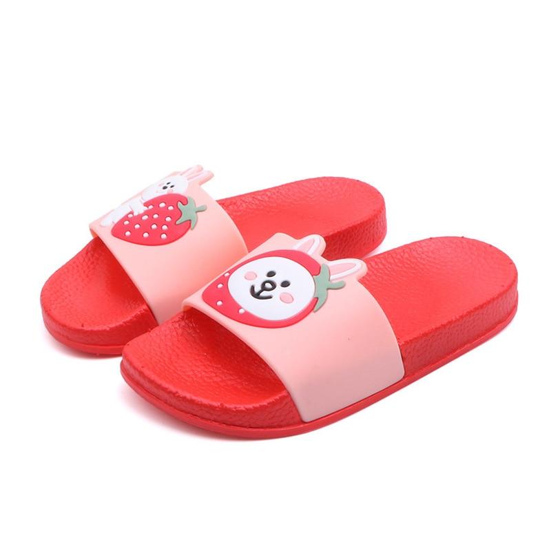 Pantoffel Kinder Jungen Kinder Strand Schuhe Weiche Tpr Kleinkind Mädchen Kinder Flop Süße Baby Home Bad Schuhe Kinder Hausschuhe Für Mädchen Schmerzen Haben
