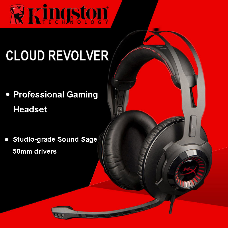 new styles 63a2d 28cdf Kingston HyperX Cloud Revolver Gaming Headset Black Headphones With  microphone for PC, Xbox One, Xbox One S, PS4, PS4 Pro, Mac