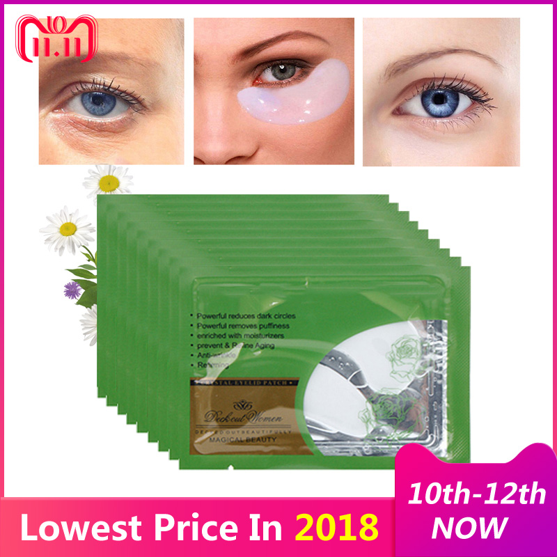 5Pair Collagen Crystal Eye Mask Eyelid Patches for Eyes Care Moisture Anti-Wrinkle Beauty Gel Eye Mask Patch Remove Dark Circles kongdy 4 bags lavender eye steam mask hot warming eye mask for tired eyes relaxing remove dark circles masks massage relaxation