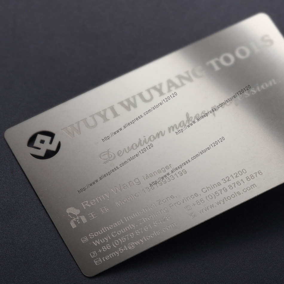 Personalized Fox Printed Quality Stainless Steel Business Metal Card