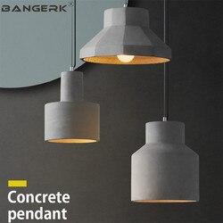 RH Vintage Loft przemysłowe oświetlenie wiszące LED kreatywny Cement wiszące lampy jadalnia Home Decor oświetlenie wewnętrzne