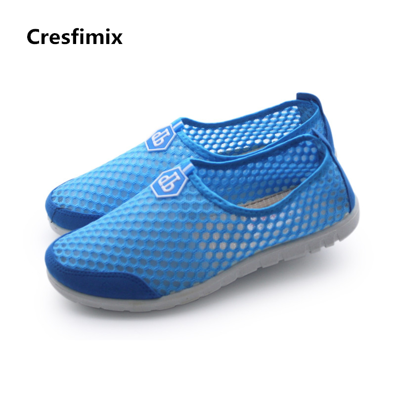 Cresfimix women cute spring summer soft slip on shoes lady cool mesh breathable sport shoes lady casual flat shoes sapatos cresfimix sapatos femininas women casual soft pu leather flat shoes with side zipper lady cute spring