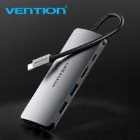 Vention Thunderbolt 3 Adapter USB Type C to USB 3.0 HUB HDMI RJ45 PD Converter for MacBook samsung S9 huawei p20 pro USB C HUB