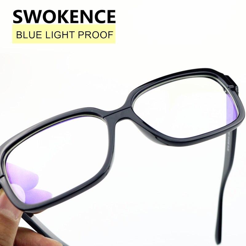 Swokence Anti Blue Ray Computer Gläser Strahlung-beständig Brille Blau Licht Proof Brillen Anti-müdigkeit Optische F190