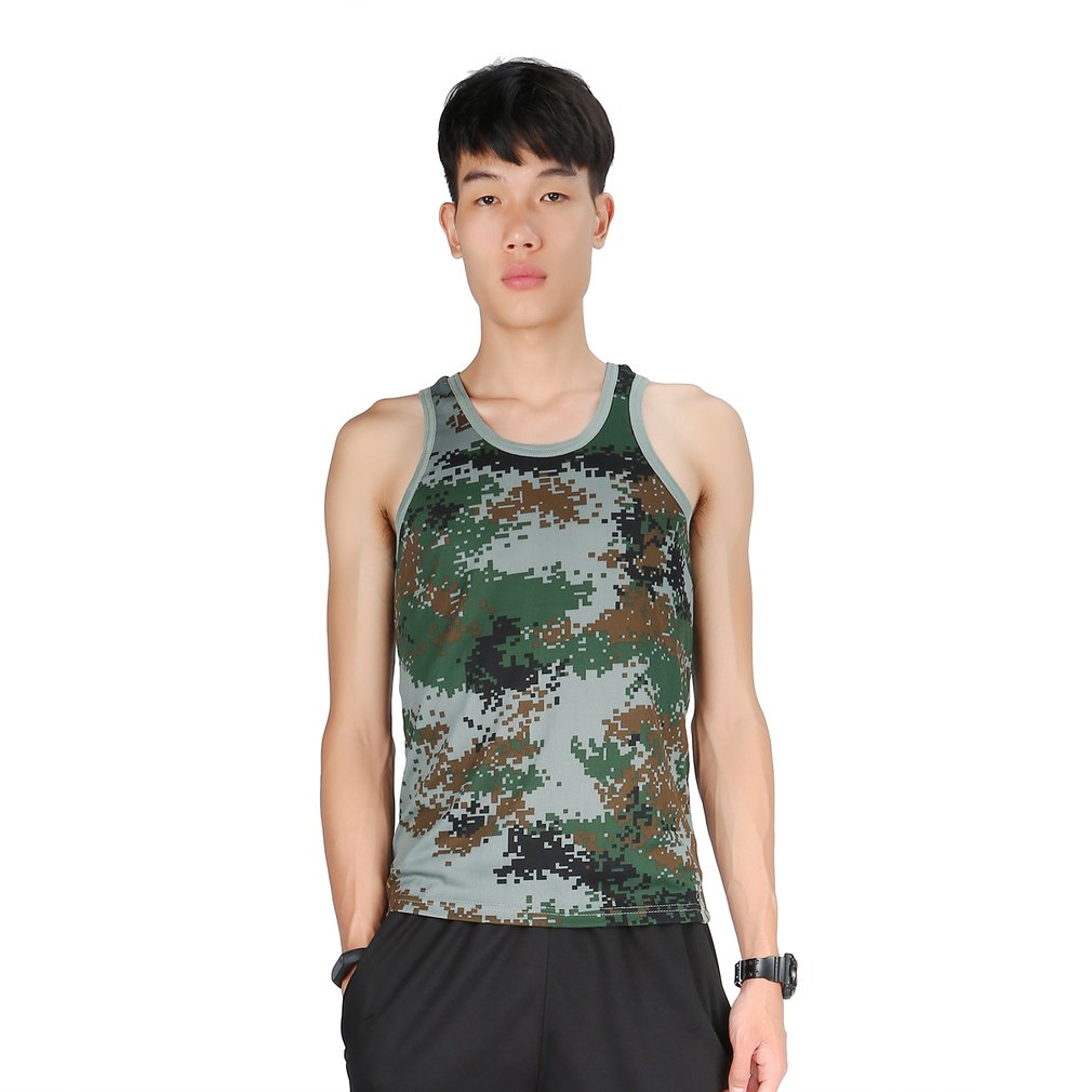 Men Bodybuilding Fitness Gyms Camouflage Tank Top Vest Fashion Brand Clothing Stretchy Wild Tight Sportswear Undershirt Complete In Specifications