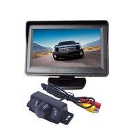 TFT LCD Car Monitor Sun Khiên 4.3 Inch Màn Hình với night rear view máy ảnh DVD Đậu Xe Hiển Thị đối với ford explorer cho GMC Yukon
